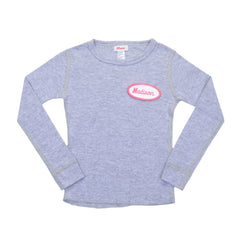 KID - Personalized Thermal - Long Sleeve - Heather Gray