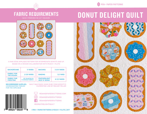 PRINTED Donut Delight Quilt Pattern