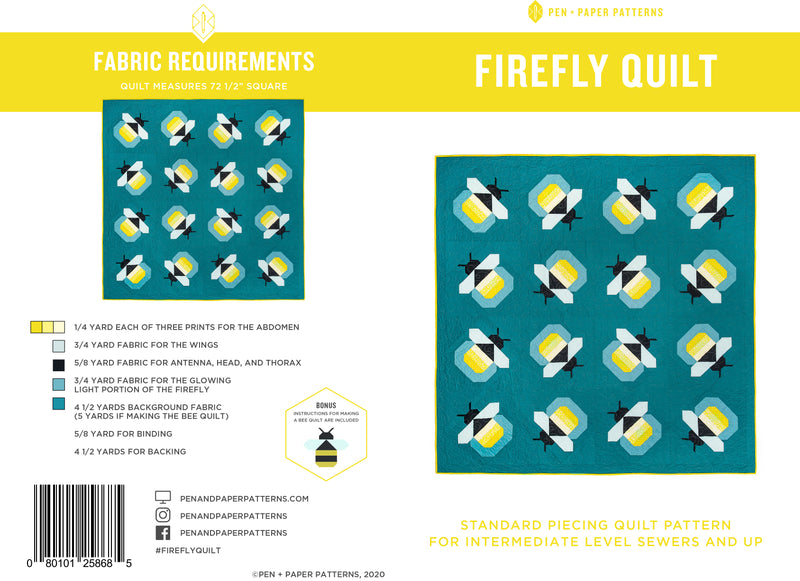 PDF Firefly Quilt Pattern