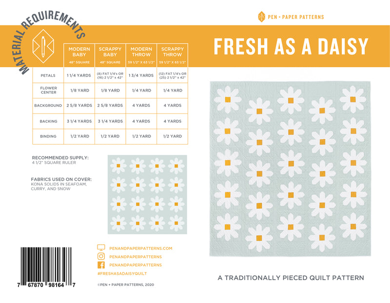 Wholesale Fresh as a Daisy Quilt Pattern