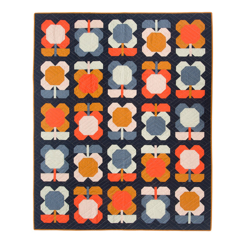 PDF Folk Blooms Quilt Pattern