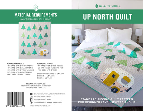 PRINTED Up North Quilt Pattern