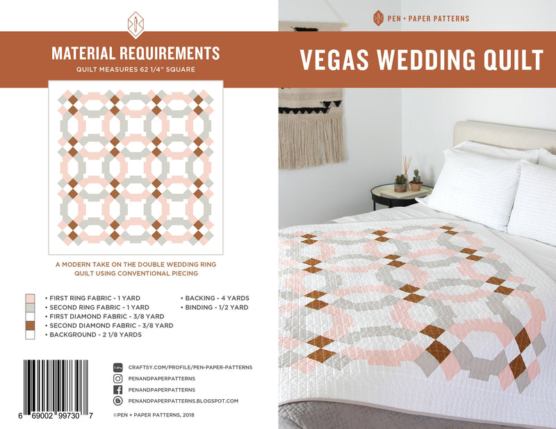 PDF Vegas Wedding Quilt Pattern