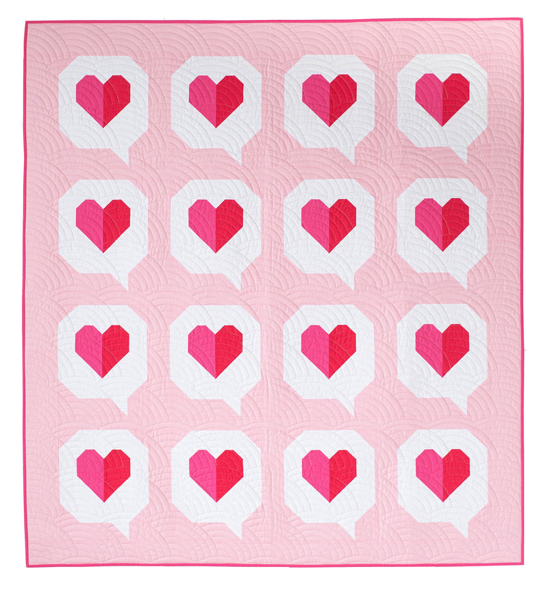 PDF I Heart You Quilt Pattern