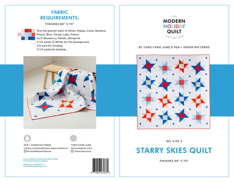 PDF Starry Skies Quilt Pattern