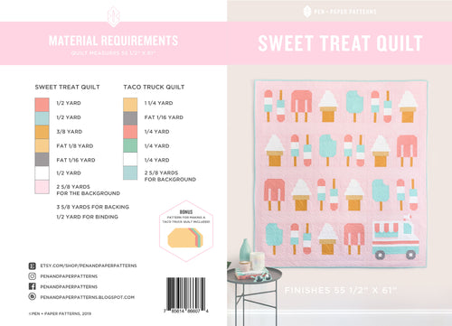 PRINTED Sweet Treat Quilt Pattern