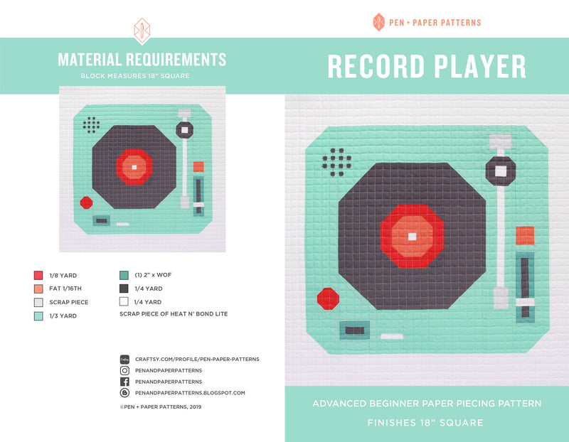 PDF Record Player Block Pattern