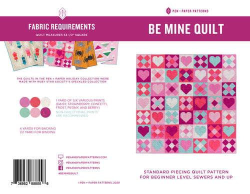 PRINTED Be Mine Quilt Pattern