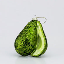 Load and play video in Gallery viewer, GLASS AVOCADO ORNAMENT