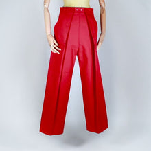 Load and play video in Gallery viewer, Two Pleats Pants - Utex Red