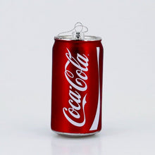 Load and play video in Gallery viewer, GLASS COCA-COLA CAN ORNAMENT
