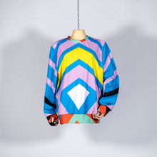 Load image into Gallery viewer, EXCLUSIVE TOM VAN DER BORGHT Sweater yellow blue purple green red white printed polyester