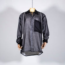 Load image into Gallery viewer, EXCLUSIVE DARE!REDA ONE OF A KIND PIECE : Chemise noire doublée