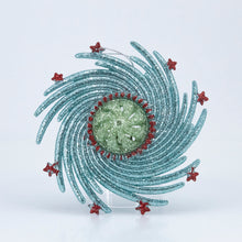 Load image into Gallery viewer, ATOMIC SNOWFLAKE PLASTIC ORNAMENT BLUE