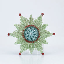 Load image into Gallery viewer, ATOMIC SNOWFLAKE PLASTIC ORNAMENT GREEN