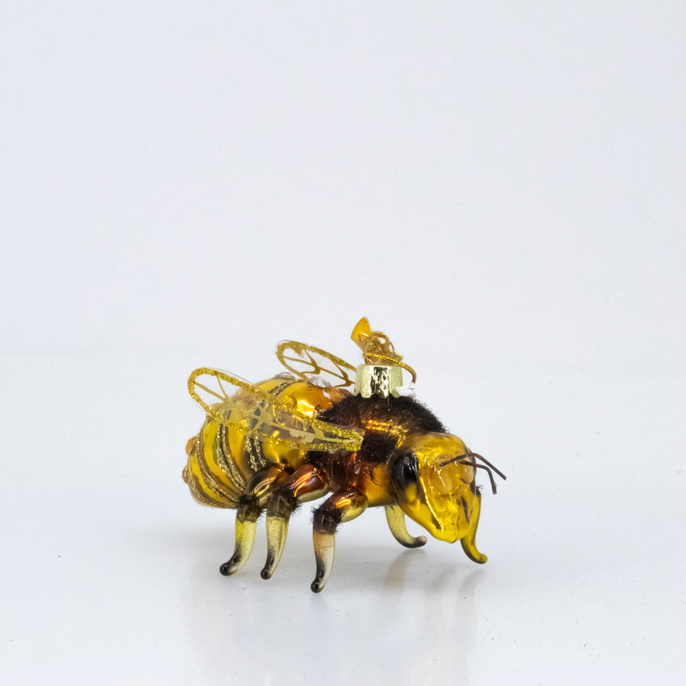 GLASS HONEY BEE ORNAMENT