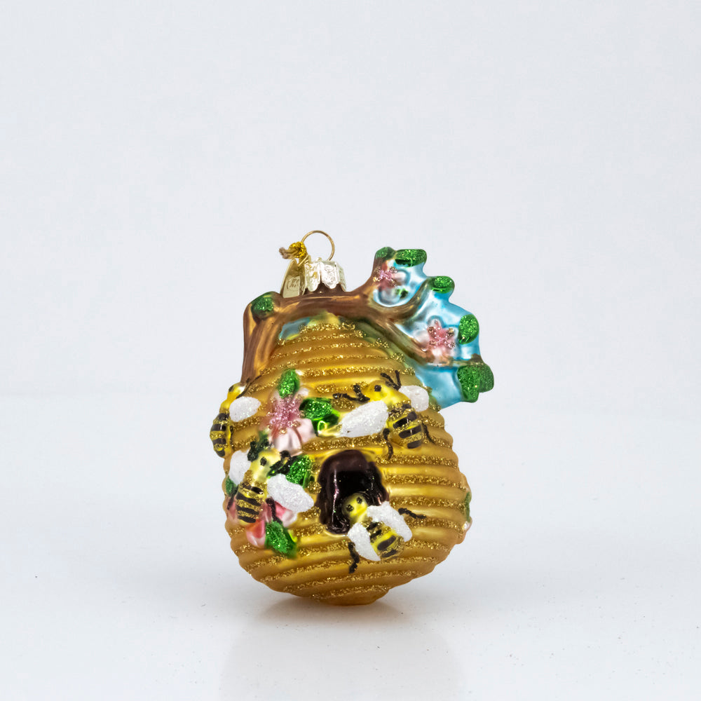 GLASS BEEHIVE ORNAMENT
