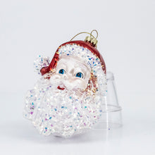 Load image into Gallery viewer, GLASS SANTA HEAD ORNAMENT