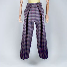 Load and play video in Gallery viewer, Two Pleats Pants - Special Edition - Lurex Check Purple