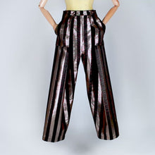 Load and play video in Gallery viewer, Two Pleats Pants - Special Edition - Lurex Stripes Gold