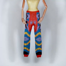 Load and play video in Gallery viewer, EXCLUSIVE TOM VAN DER BORGHT Knitted legging base orange blue purple black in wool