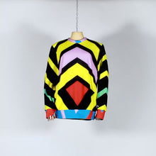 Load and play video in Gallery viewer, EXCLUSIVE TOM VAN DER BORGHT Sweater red green blue yellow printed polyester