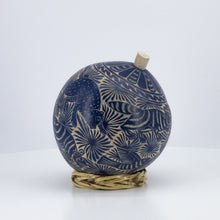 Load image into Gallery viewer, Handcarved Calabash Blue