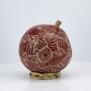Handcarved Calabash Red