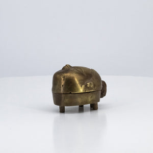 Head shaped boxes in copper