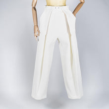 Load image into Gallery viewer, Two Pleats Pants - Exclusive Spring Serie White