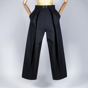 Two Pleats Pants - Utex Black