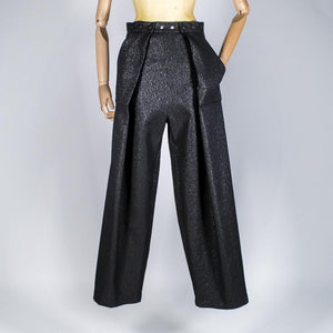 Two Pleats Pants - Special Edition - Lurex Black