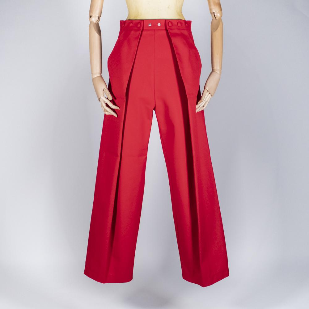 Two Pleats Pants - Utex Red