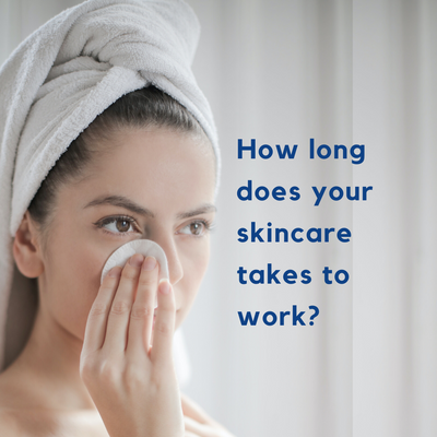 How long should you expect your skincare product to show results?