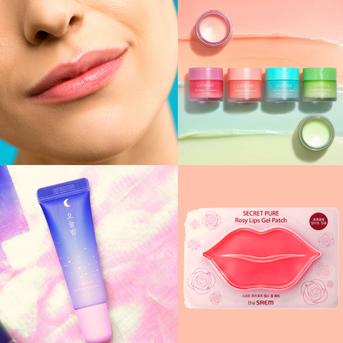 Laneige Lip Sleeping Mask MINI Kit  Missha Tonight Brilliance Lip Balm Rosy Lips Gel Patch