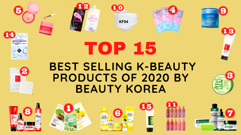 TOP 15 BEST SELLING  K-BEAUTY PRODUCTS OF 2020 by BEAUTY KOREA