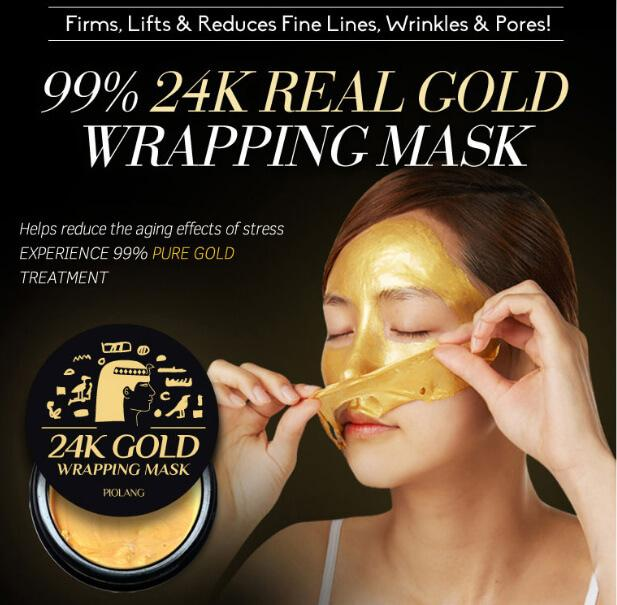 piolang 24k gold wrapping face mask