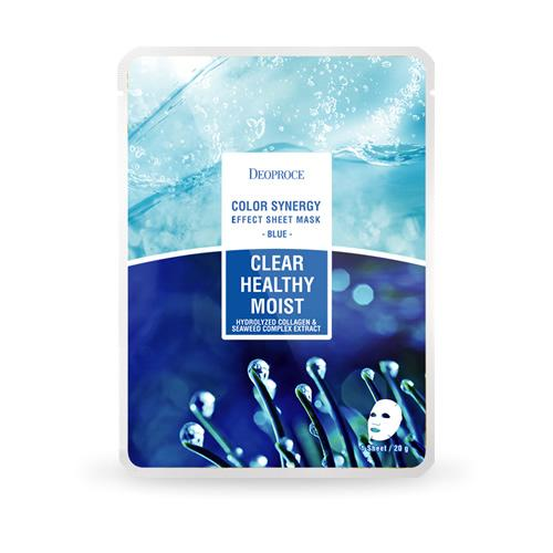 DEOPROCE Color Synergy Mask BLUE: Hydrolyzed Collagen & Seaweed Complex Extract