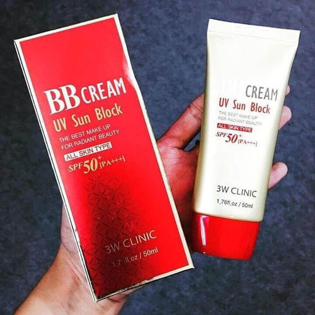 3w clinic bb cream uv sun block