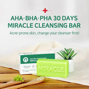 [30%Sale]Miracle Soap + Miracle Toner Set AHA BHA PHA + Foam Net [Gift]