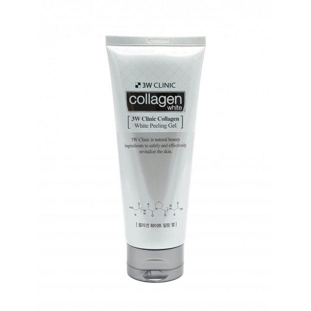 3W CLINIC Collagen Crystal WHITE Peeling Gel, 180ml