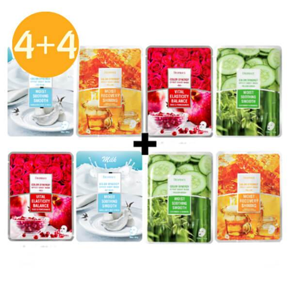 [4+4 EVENT] DEOPROCE Color Synergy Facial Mask (50% Sale! BUY FOUR, GET FOUR FREE!)