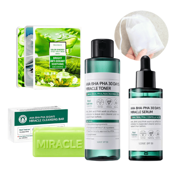 [BigSale] Miracle Soap + Miracle Toner + Miracle Serum (Free 3 Face Masks + Free Bubble Foam Net)