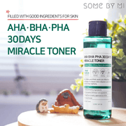 [BigSale] SomebyMi Miracle AHA BHA PHA Soap + Toner + Cream with *free bubble foam net* (SET)