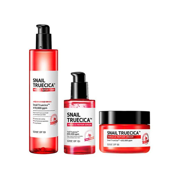 [BigSale] Somebymi Snail Truecica Repair Toner + Serum + Cream SET