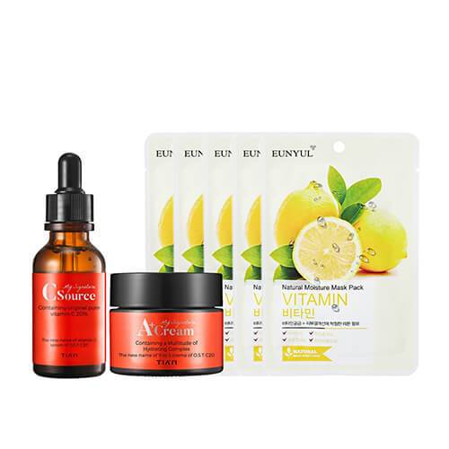 [BigSale] Vitamin Whitening SET (5 Masks + Serum + Cream)