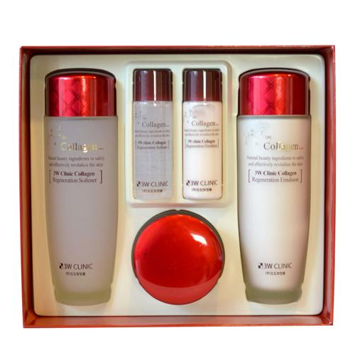 3w clinic collagen regeneration skincare complete set