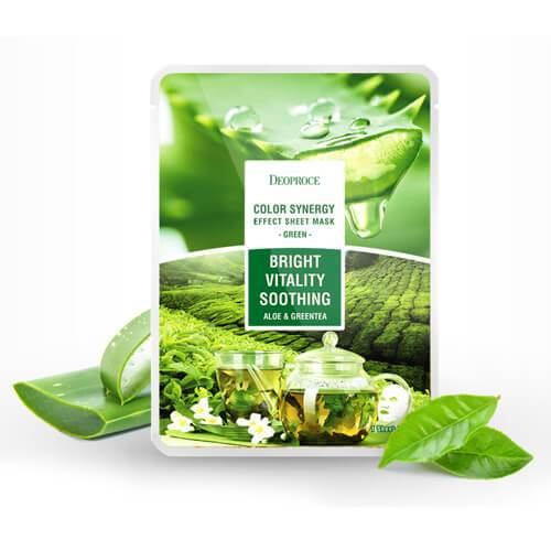 DEOPROCE Color Synergy Mask GREEN : Aloe Vera and Greentea