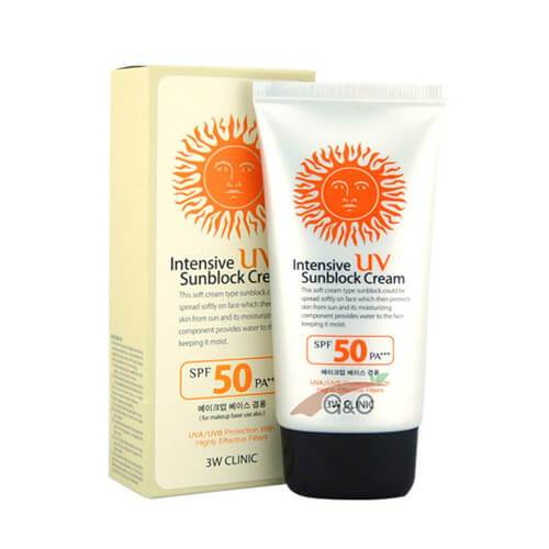 3W CLINIC Intensive UV Sunblock Cream