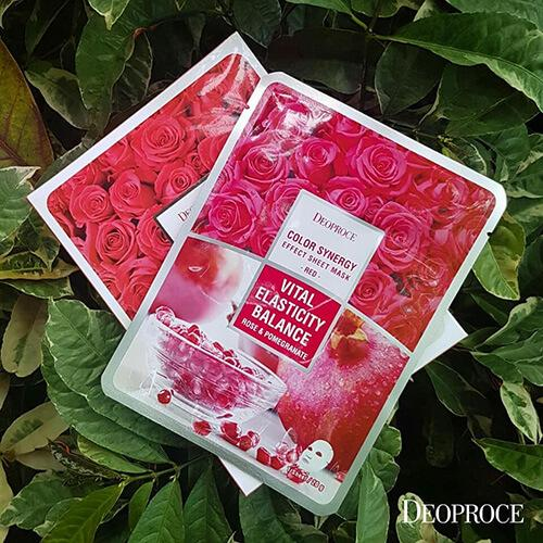 DEOPROCE Color Synergy Mask RED: Rose and Pomengrenate